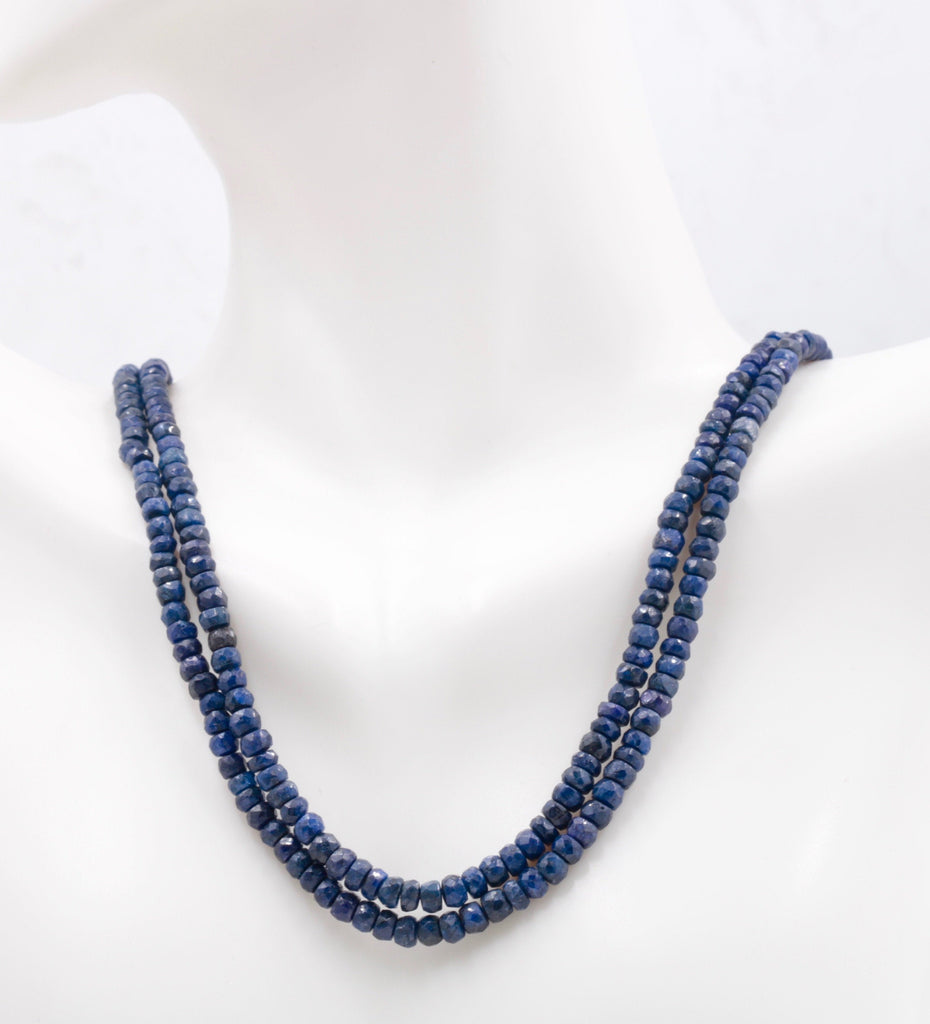 Genuine Sapphire Necklace Blue Sapphire Necklace Sapphire gemstone beads Blue gemstone necklace Sapphire Beaded Necklace SKU:113222-Planet Gemstones
