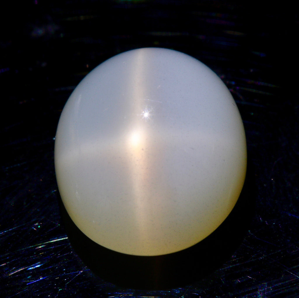 Natural Star Moonstone White Star Moonstone June Birthstone Moonstone DIY Jewelry Supplies Oval Star Moonstone cabs loose stone SKU:113246-Planet Gemstones