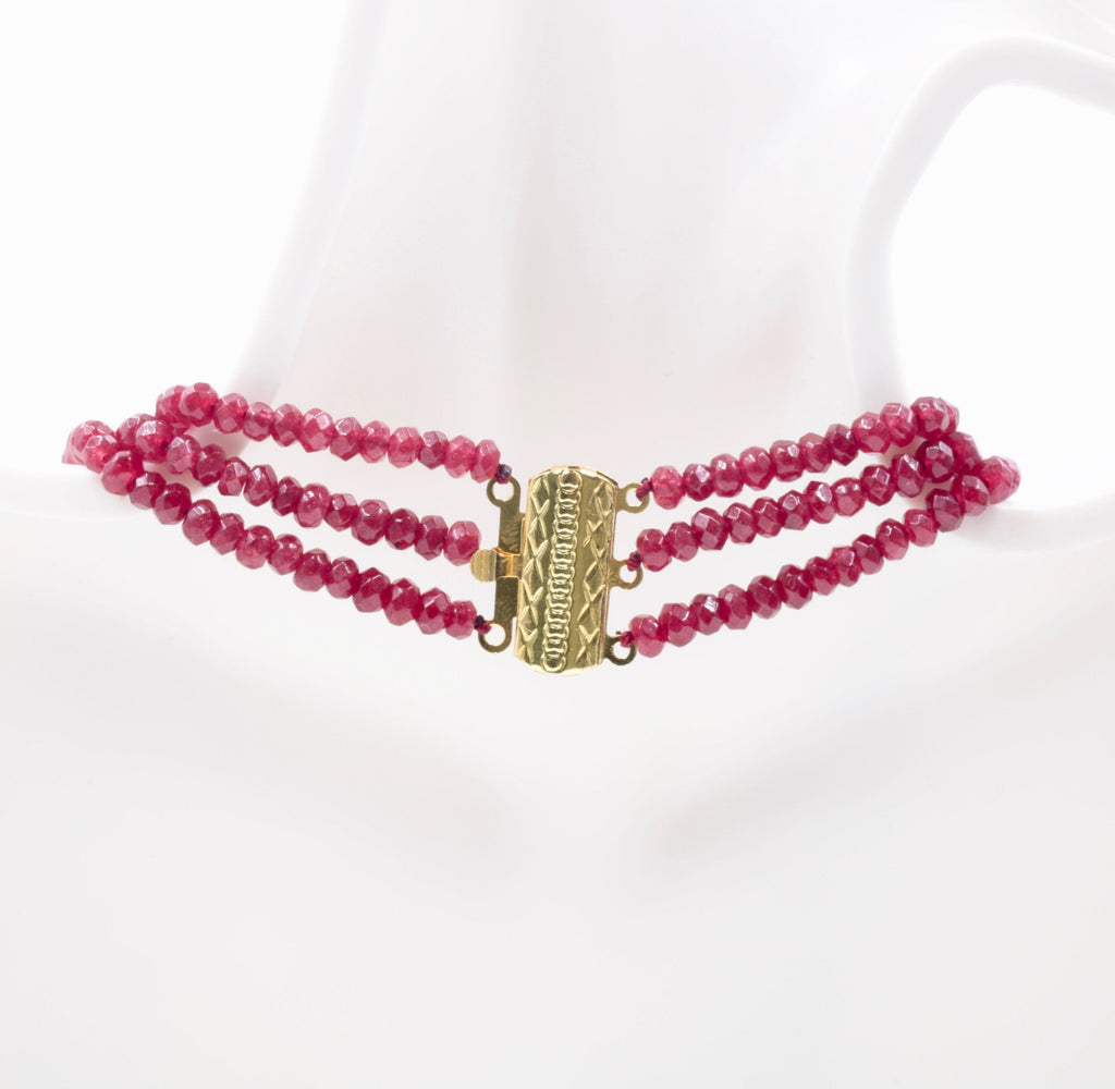 Genuine ruby beads Ruby bead necklace ruby gemstone beads ruby fuchsite beads necklace for women ruby necklaceSKU:113267,113268-Planet Gemstones