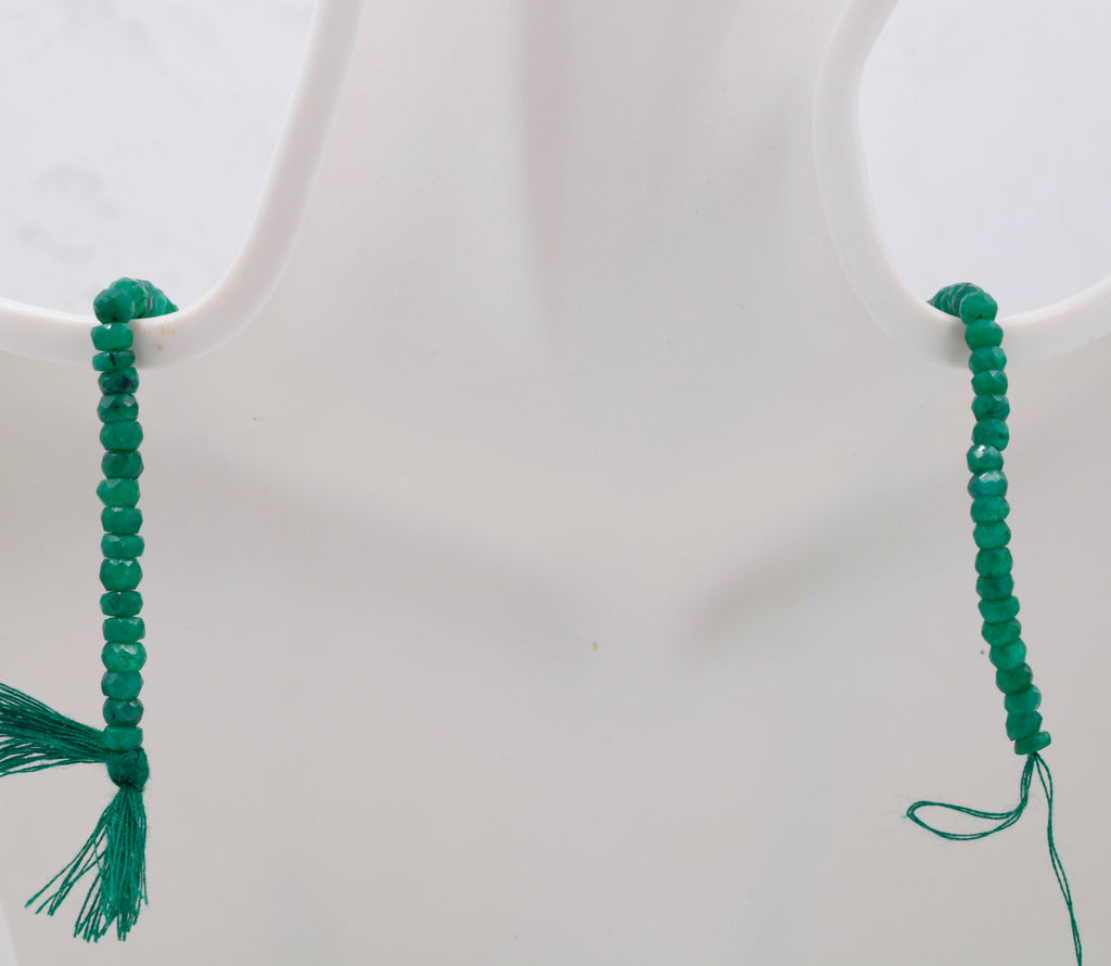 Genuine Emerald Beads Emerald Necklace Green gemstone Beads Emerald Gemstone Beads Green Jade Necklace Jade Bead Necklace 70-80ct SKU:113177 - Vettri Gems USA