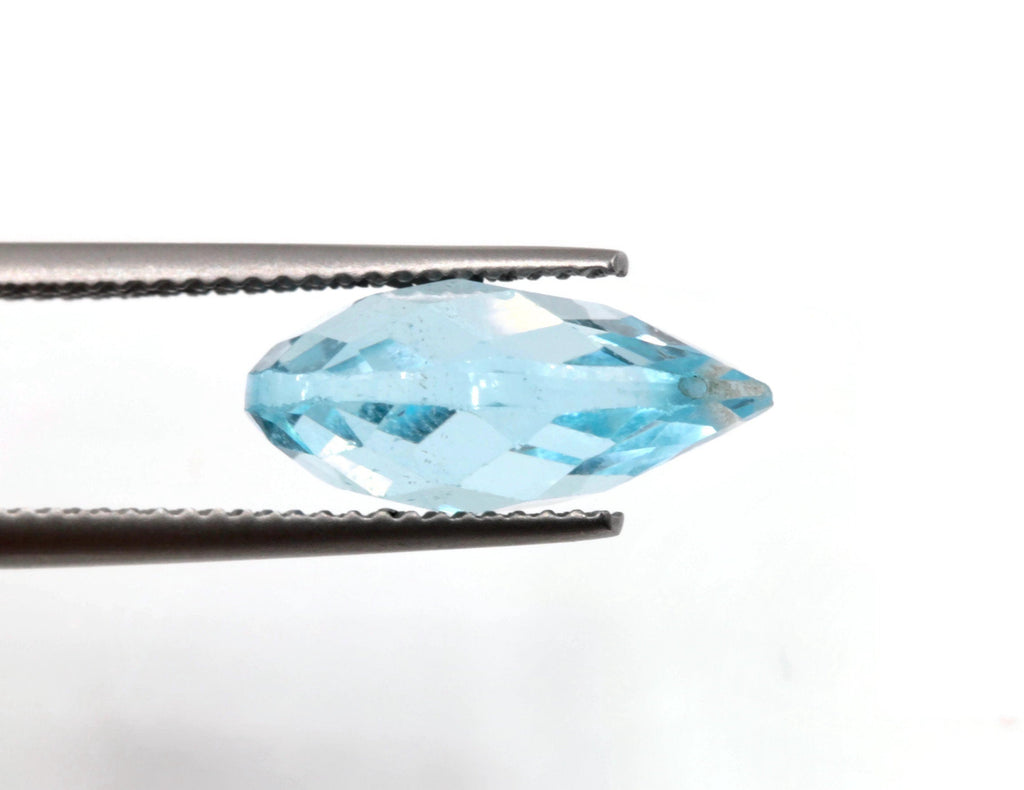 Blue Topaz Natural Blue Topaz London Blue topaz December BirthStone Blue Topaz Drops DIY Jewelry Supply PE 14x10mm Approx 13ct SKU:113210-Planet Gemstones