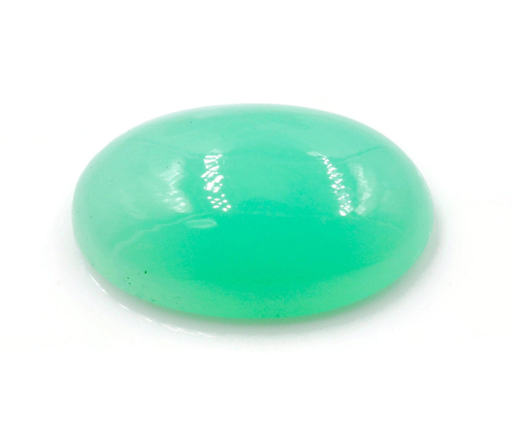 Green Chrysophrase Natural Cabochon Chrysophrase gemstone Chrysophrase loose stone DIY Green Chrysophrase OV 18x12mm Approx 9ct SKU:113203-Planet Gemstones
