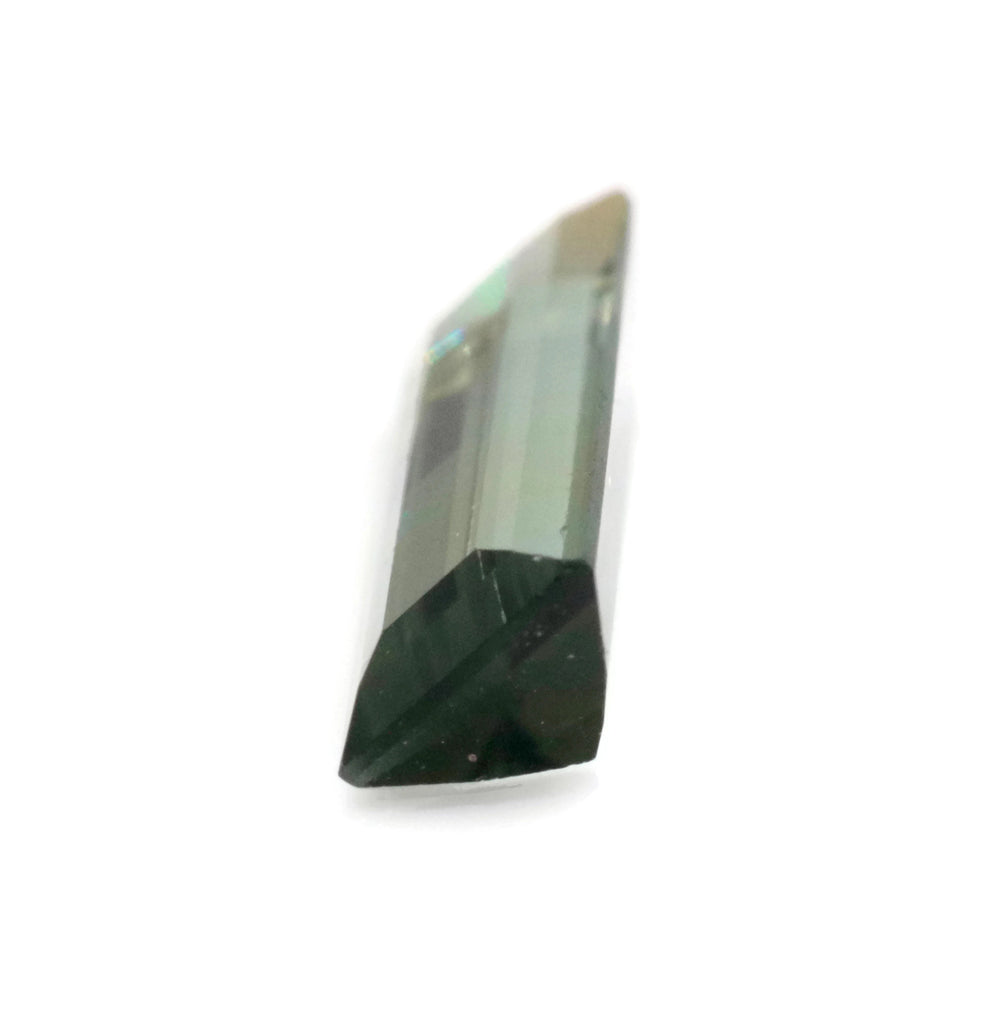 Natural Green Tourmaline Gemstone Black Tourmaline Stone October Birthstone DIY Jewelry Supply Tourmaline Stone Approx 2ct 13x4mm SKU:113195-Tourmaline-Planet Gemstones
