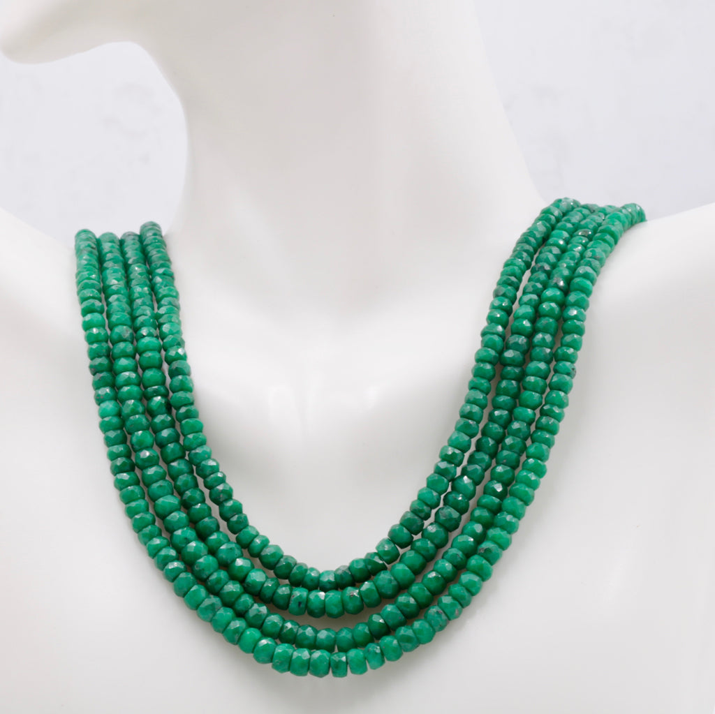 Genuine Emerald Beads Emerald Necklace Green gemstone Beads Emerald Gemstone Beads Green Jade Necklace Jade Bead Necklace SKU: 113225-Emerald-Planet Gemstones