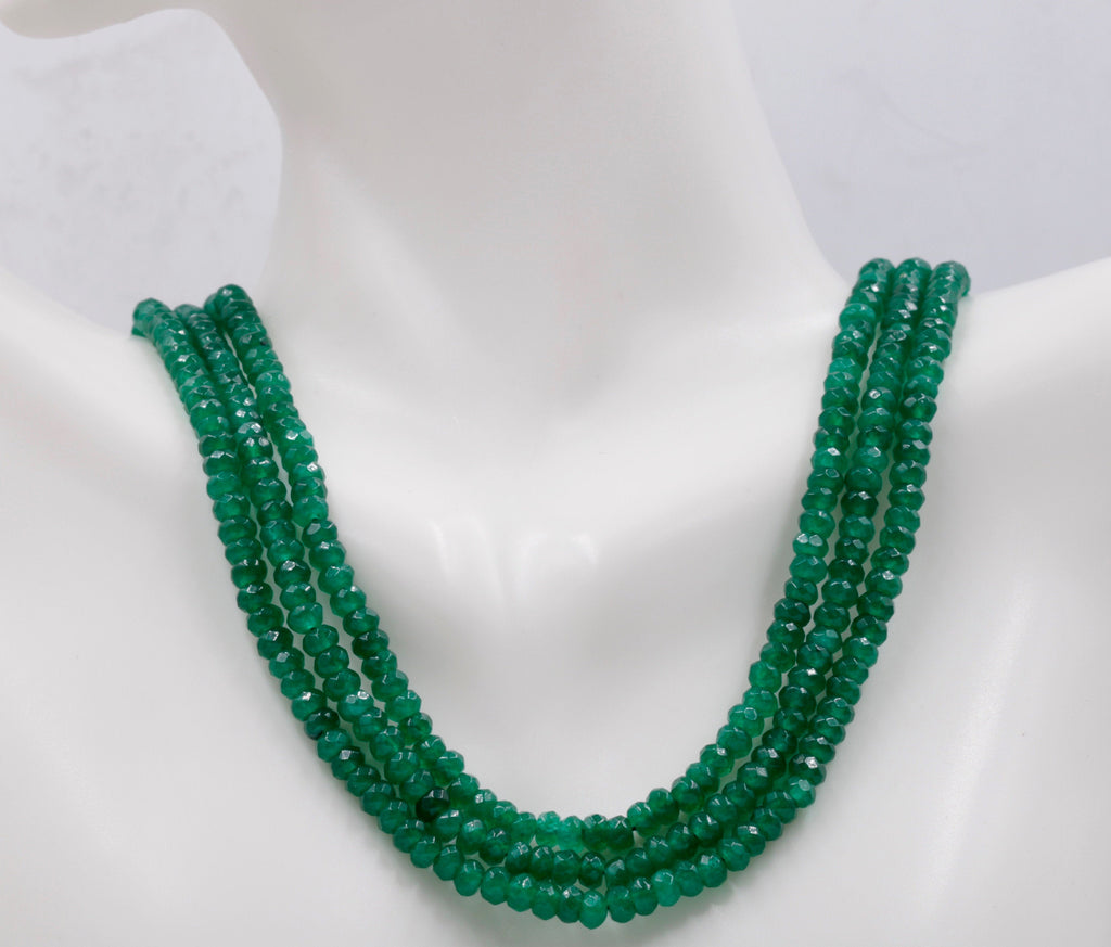 Genuine Emerald Beads Emerald Necklace-Emerald-Planet Gemstones