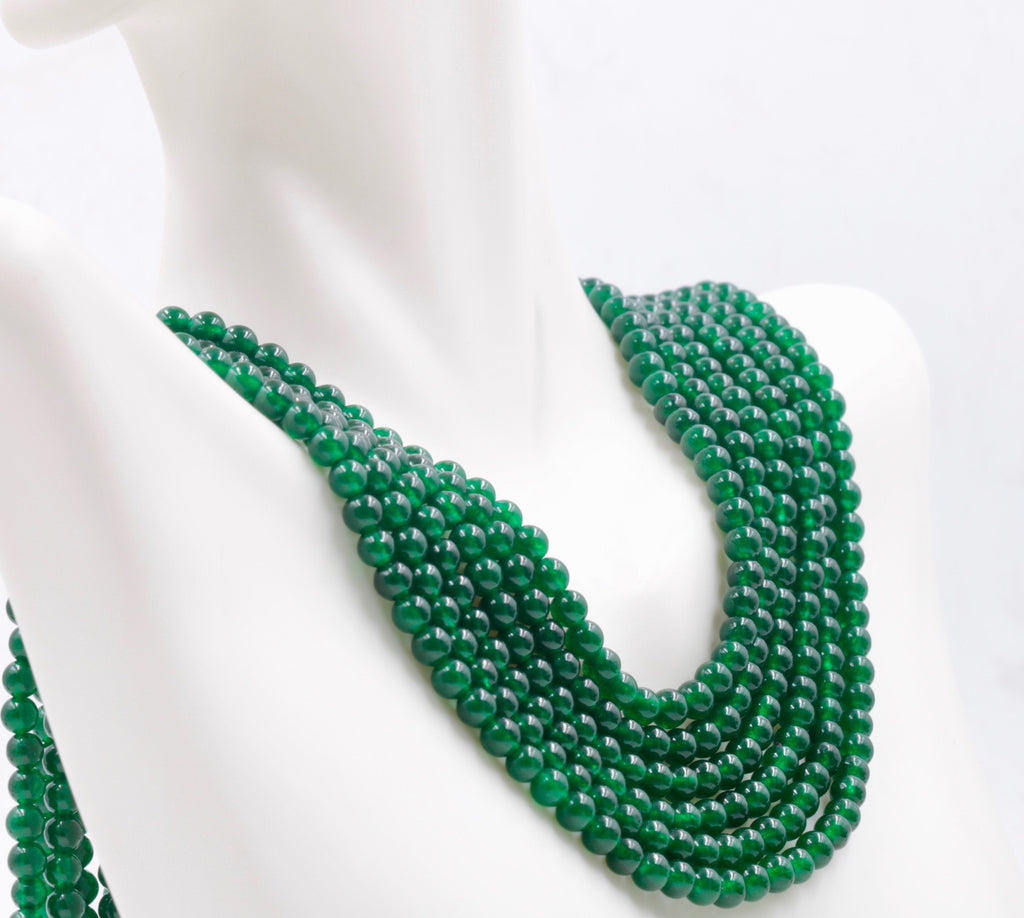 Genuine Emerald Beads Emerald Necklace Green gemstone Beads Emerald Gemstone Beads Green Jade Necklace Jade Bead NecklaceSKU:113266,113272-Emerald-Planet Gemstones