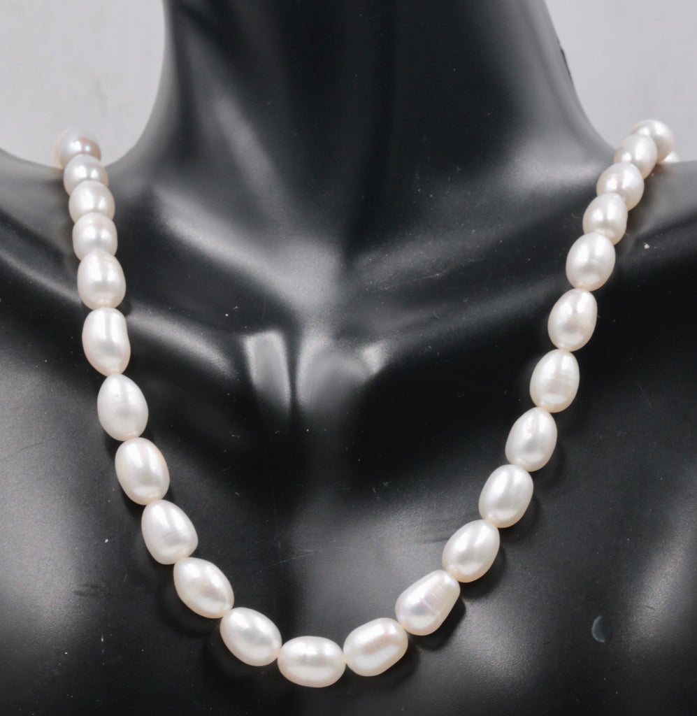 "Fresh Water Pearls Real pearl necklace Cultured pearls Small pearl Necklace Natural white pearl Bulk Pearl 16"" SKU:113251-Planet Gemstones"