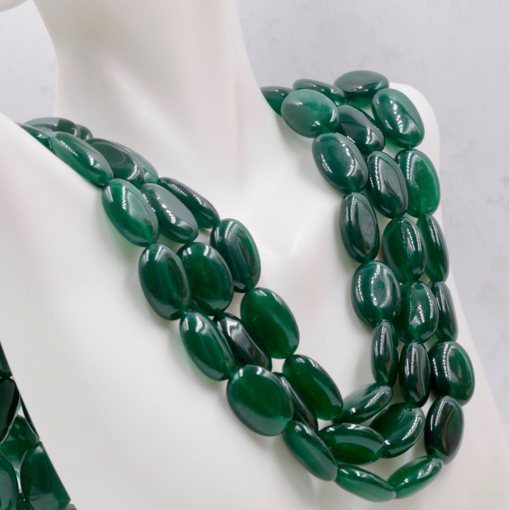 Genuine Emerald Beads Emerald Necklace Green gemstone Beads Emerald Gemstone Beads Green Jade Necklace Jade Bead Necklace SKU:114339,114340-Emerald-Planet Gemstones