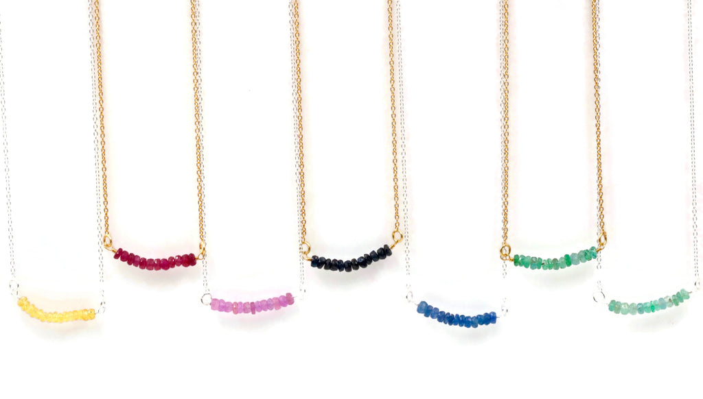 Natural Precious faceted Gemstone Simple Necklace SKU: 6142205-necklace-Planet Gemstones