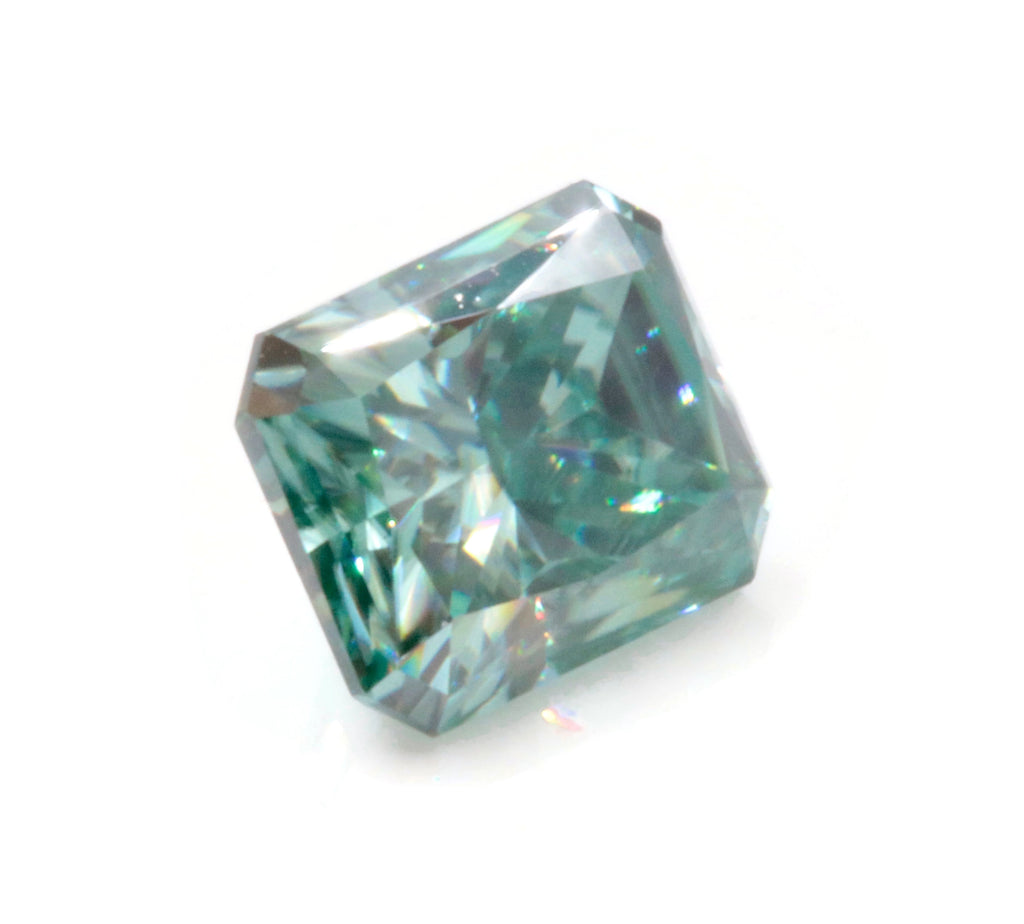 Green Moissanite Moissanite Gemstone Faceted Moissanite Loose Stone Radiant Cut Moissanite 7X5mm, 8X6mm SKU: 114491,114492-Moissanite-Planet Gemstones