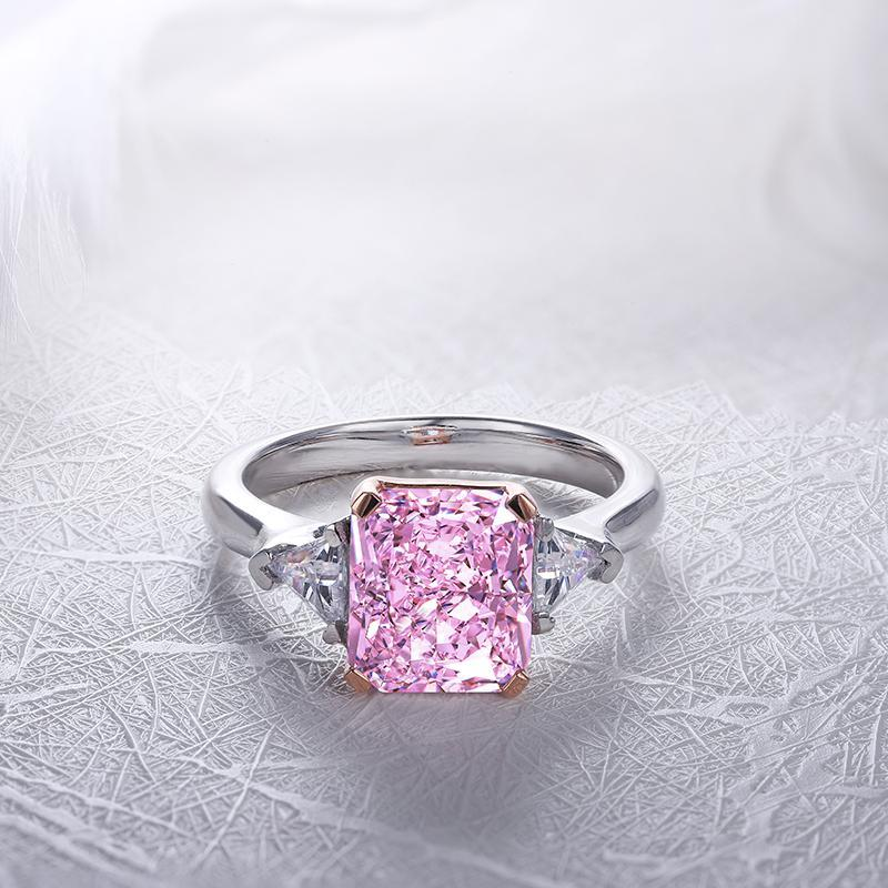 Womens luxury daily wear halo ring with Pink, Yellow and white jewelems diamonds-RING-Planet Gemstones