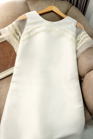 Regen dress in white