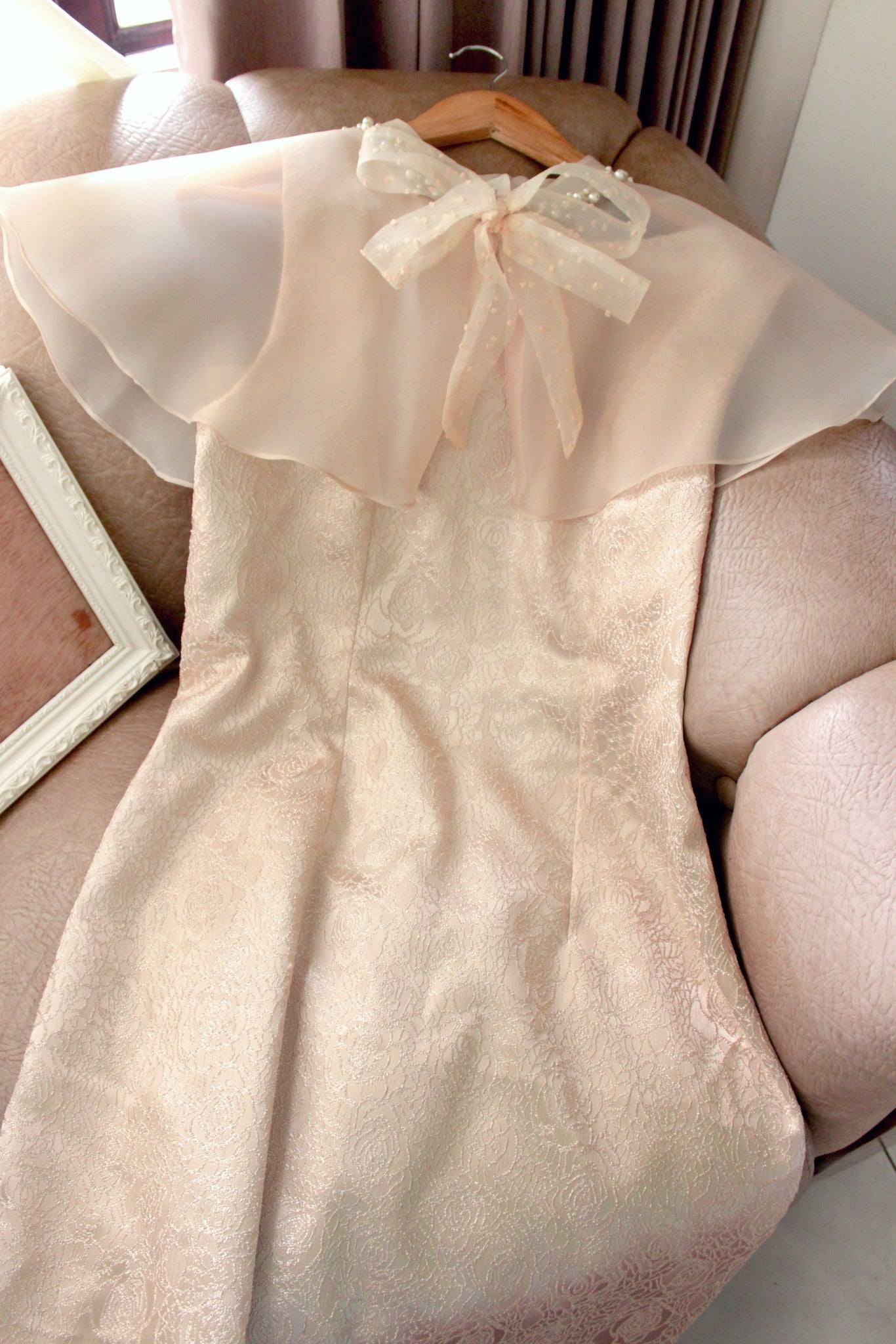 Abbey dress in champagne