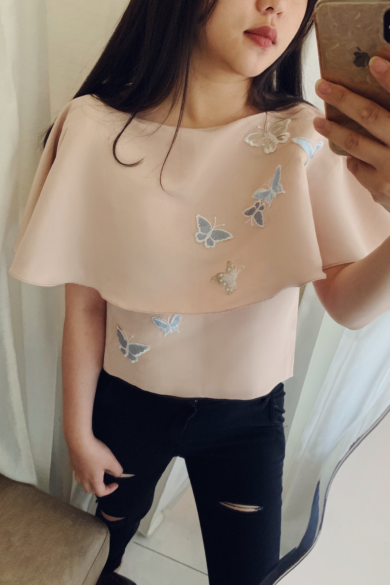 Poppine top in camel
