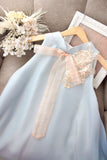 Charlotte dress pale blue