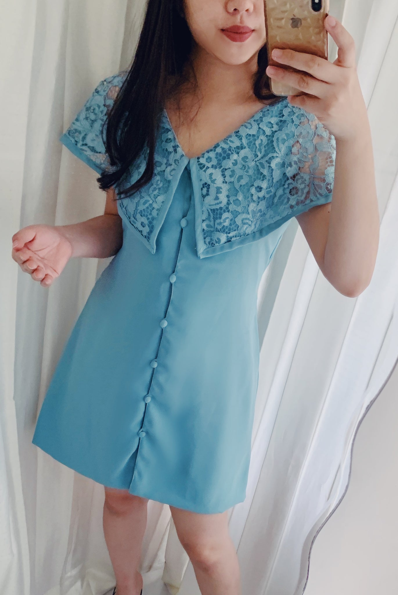 Cellyn dress in turquoise