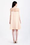 Lara dress in peach