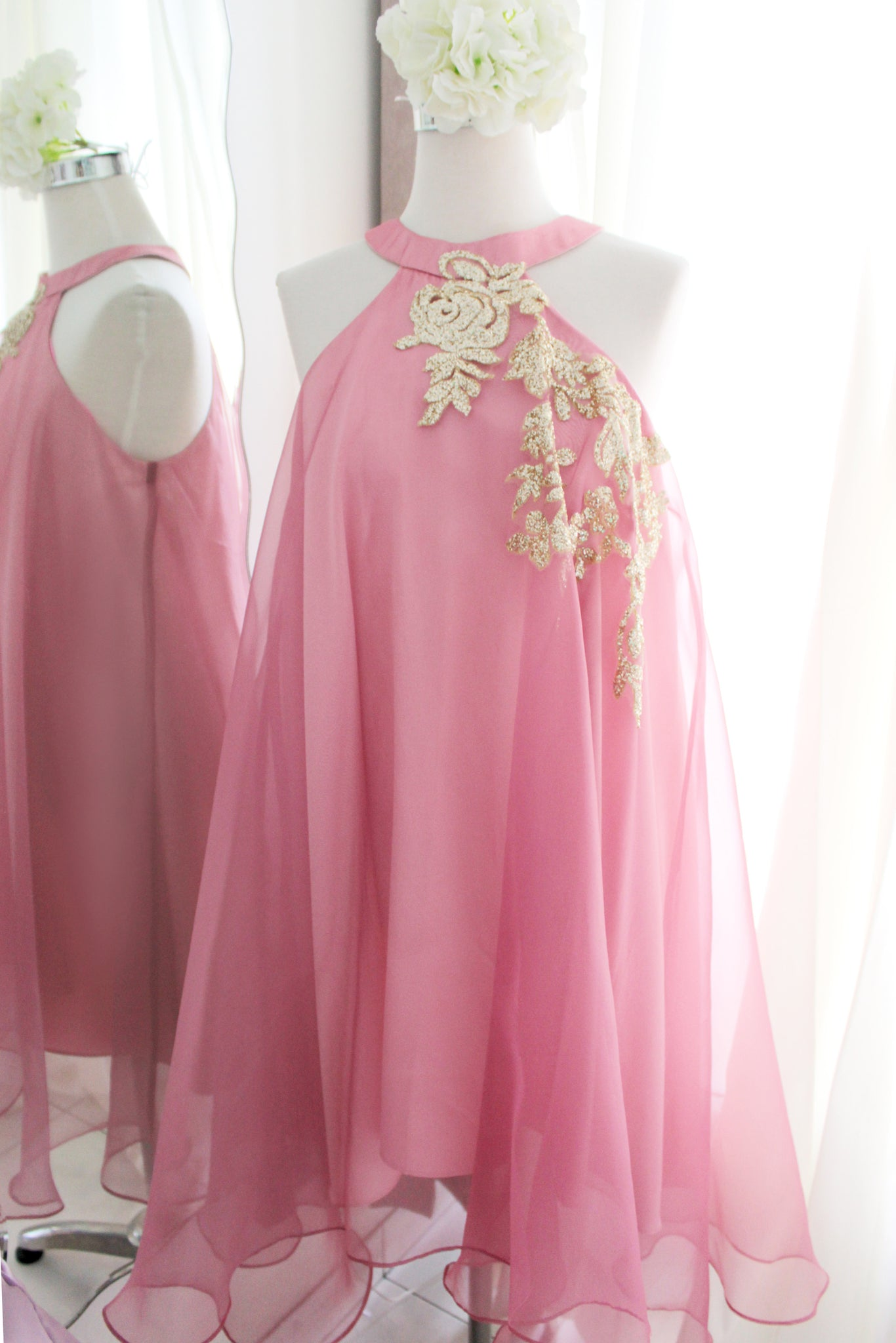 Alhea Dress in dusty pink