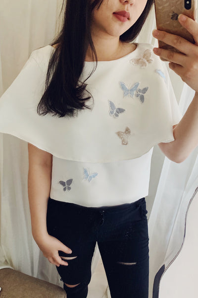 Poppine top in white