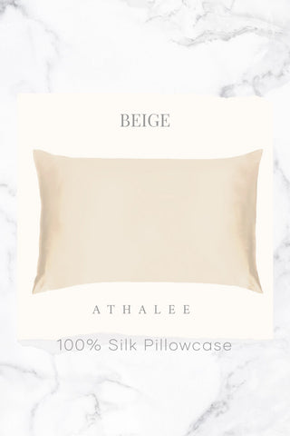19M Silk Pillowcase Beige