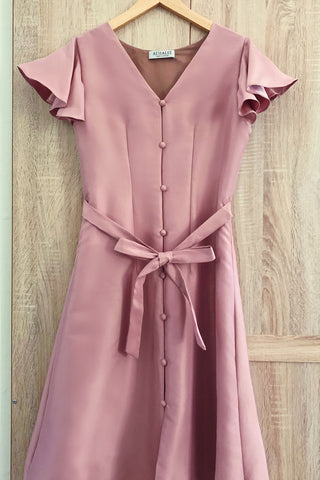 Victoria dress in dust pink