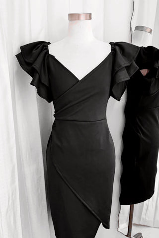 Heart dress black
