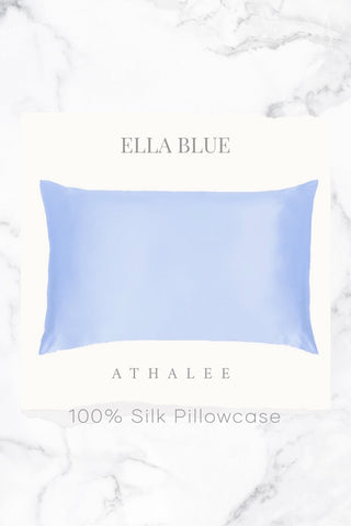 16M Silk Pillowcase Ella Blue