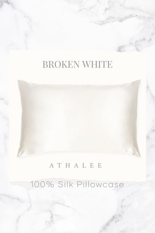 19M Silk Pillowcase Broken White