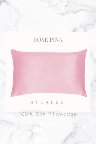 16M Silk Pillowcase Rose Pink