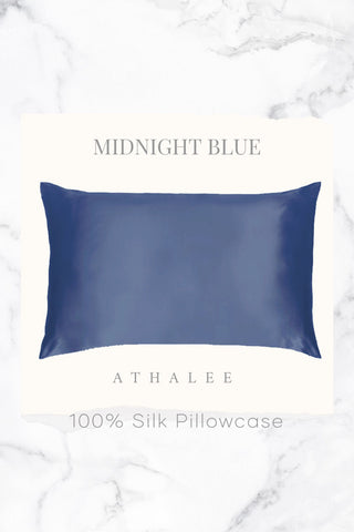 16M Silk Pillowcase Midnight Blue