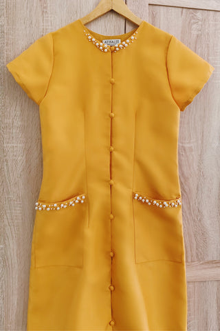 Hill dress in mustard