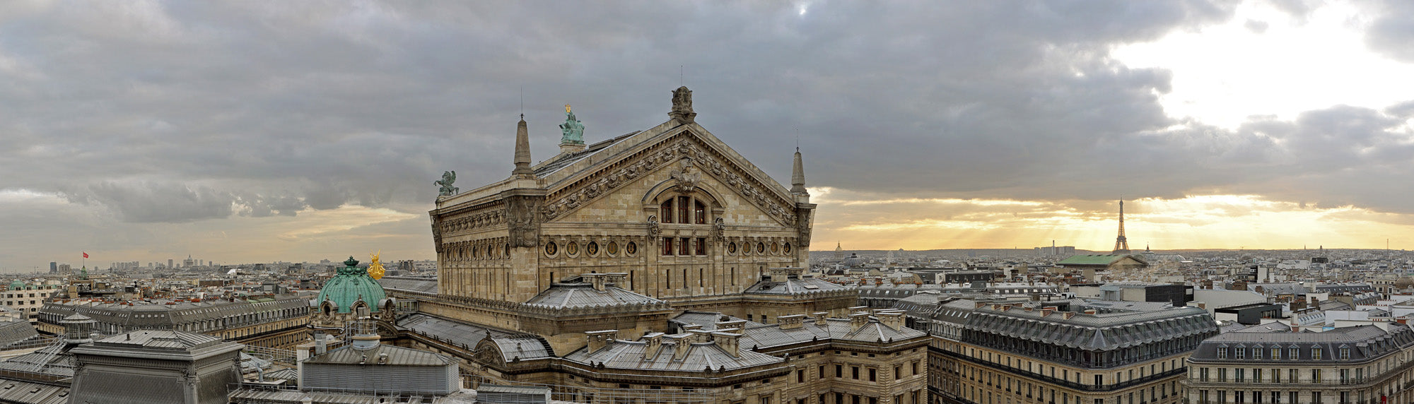 Skyline of Paris & Opera Garnier - Limited Edition 50 cm x 175 cm