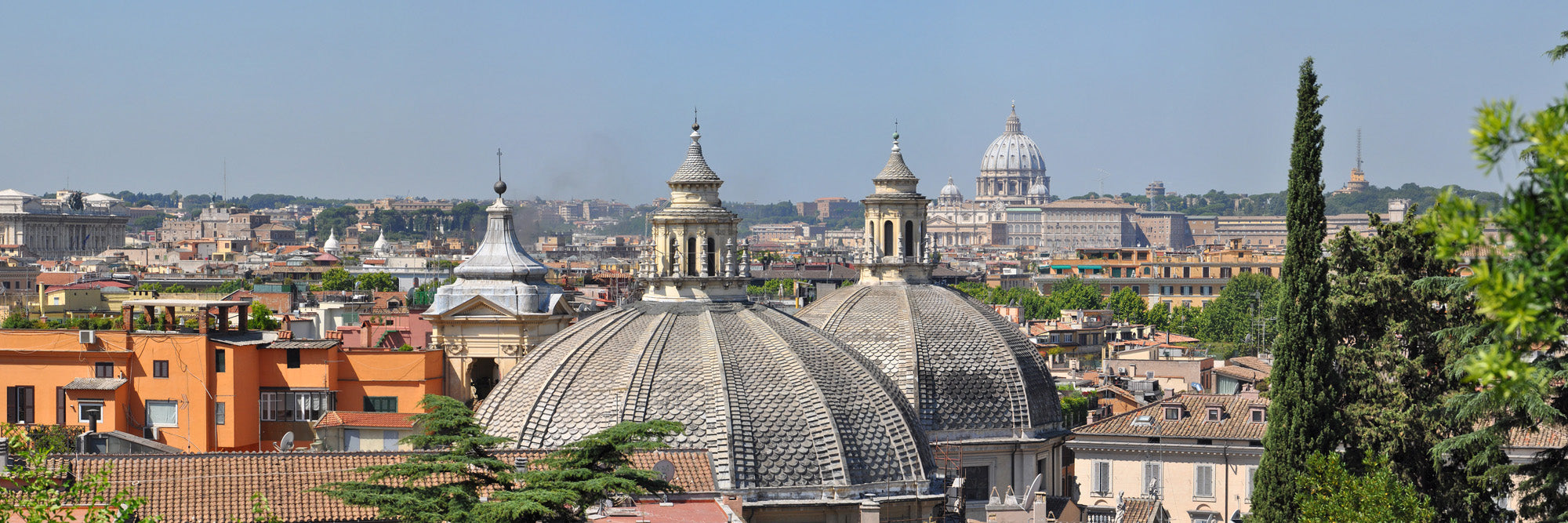 Skyline of Roma & Saint Peters's Basilica - Limited Edition 50 cm x 150 cm