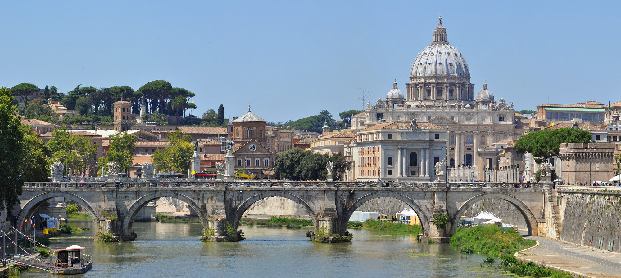 Saint-Peters Basilica & Saint Angelo bridge - Limited Edition 60 cm x 130 cm