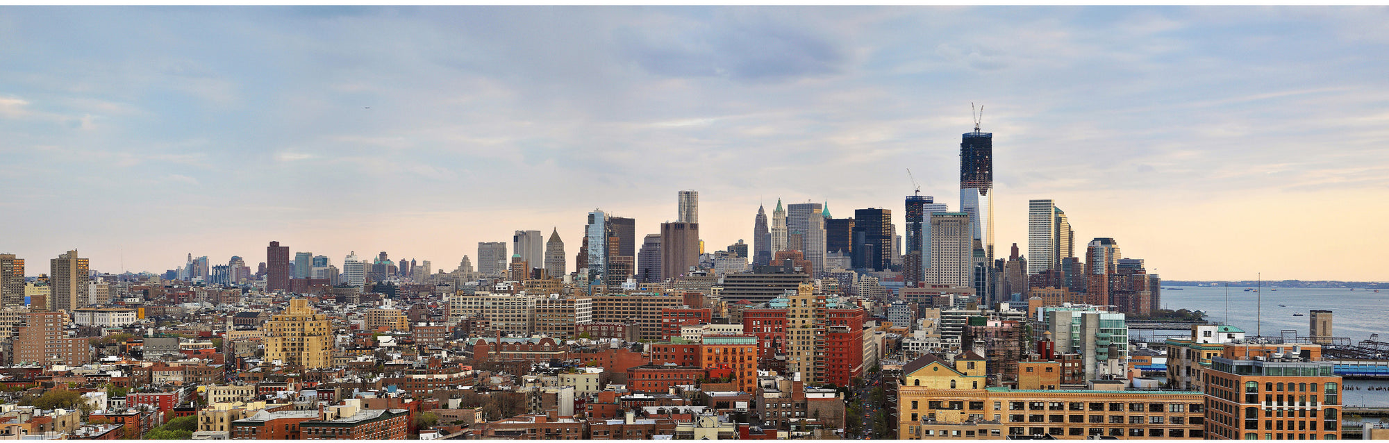 Skyline of New York Financial district - Limited Edition 60 cm x 150 cm