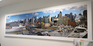New York City Skyline from Intrepid Museum - Limited Edition up to 55 cm x 220 cm