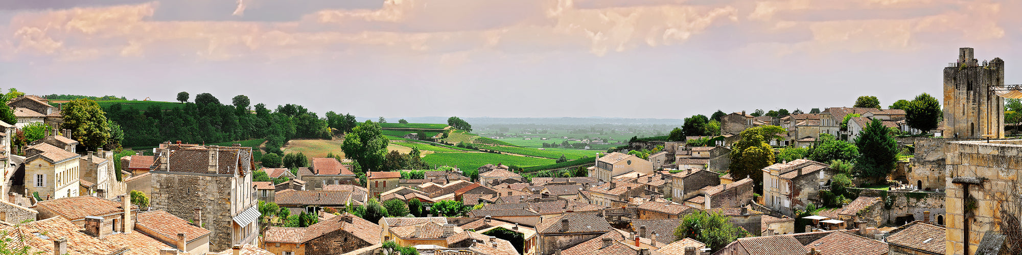 The village of Saint-Emilion (France) - Open Edition 40 cm x 160 cm