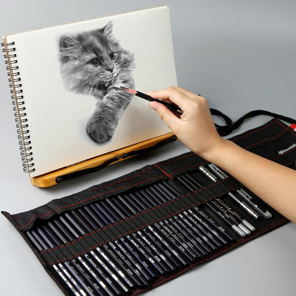 set of sketch pen art supplies