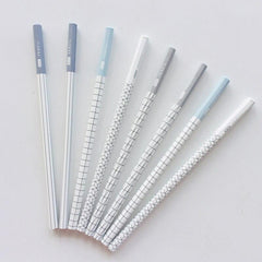 Grids Striped 2B Standard Wooden Pencil