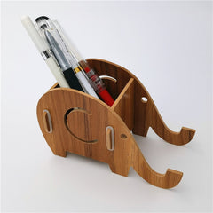 Elephant Desk Pen Holder Organizer