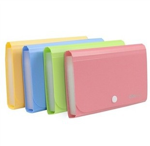 Plastic Candy Color A6 File Folder
