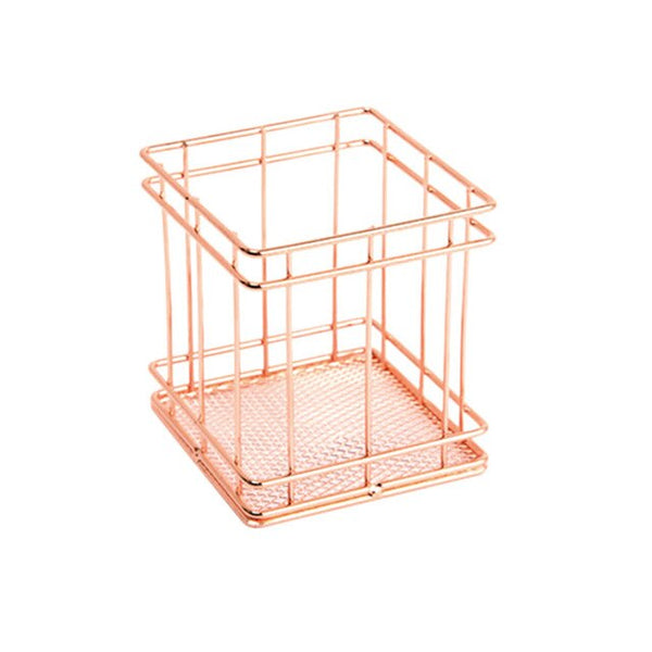 Rose Gold Wire Net Pencil Holder
