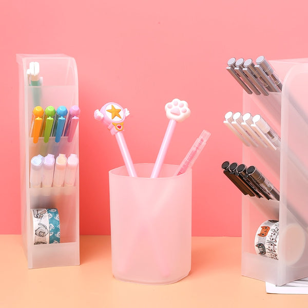 Pen Holder Transparent Scrub Desk