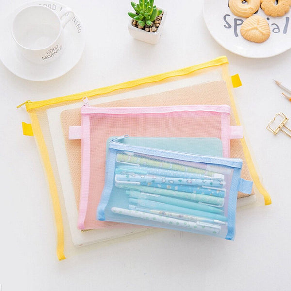 Transparent Collapsible plastic grid folder