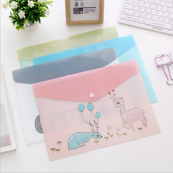 Pocket Plastic Kawaii A4 File Folder