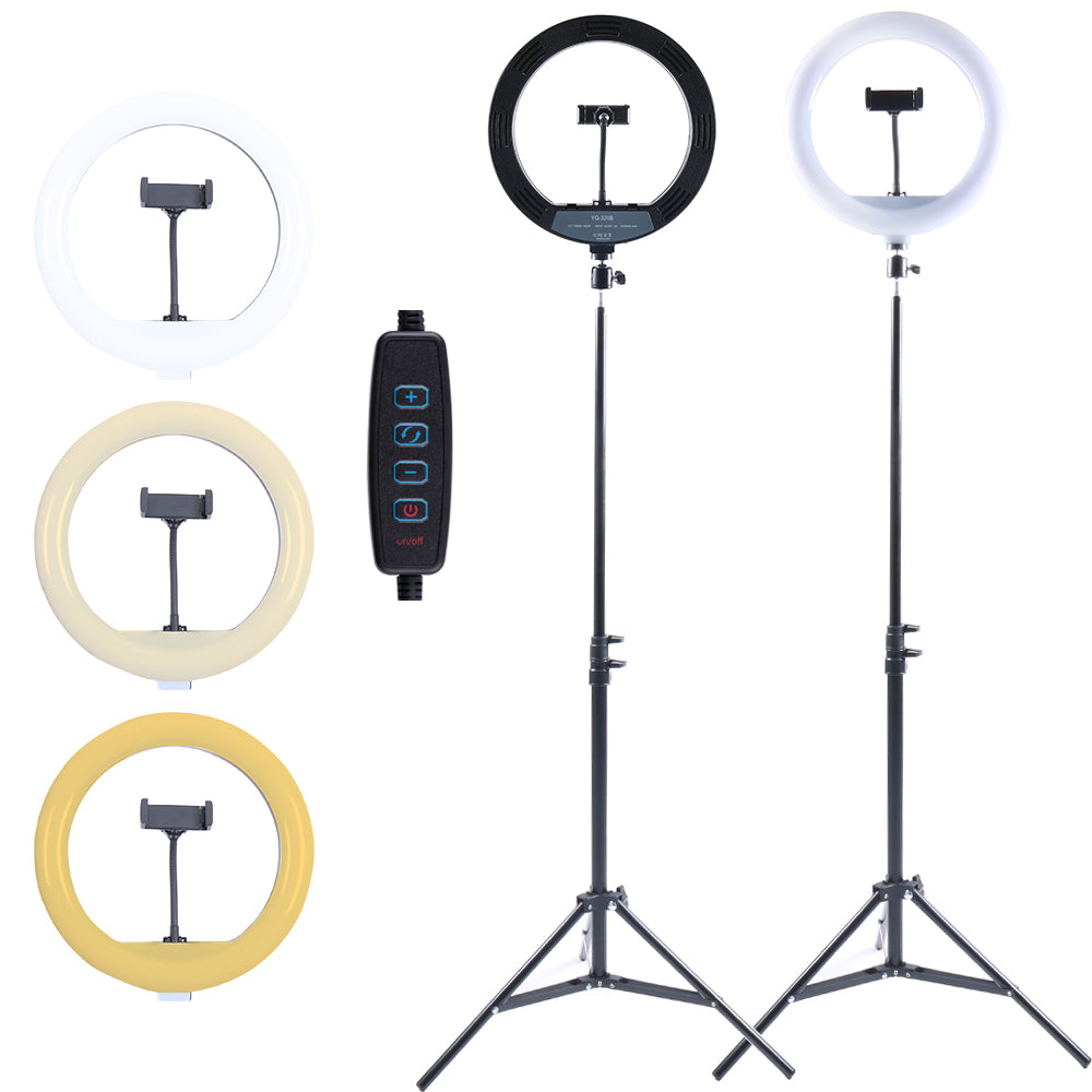 Selfie Ring Light with Tripod Stand and Phone Holder, 12Inch