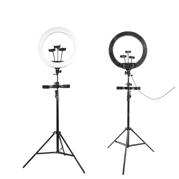 Selfie Ring Light with Tripod Stand and Phone Holder, 18Inch