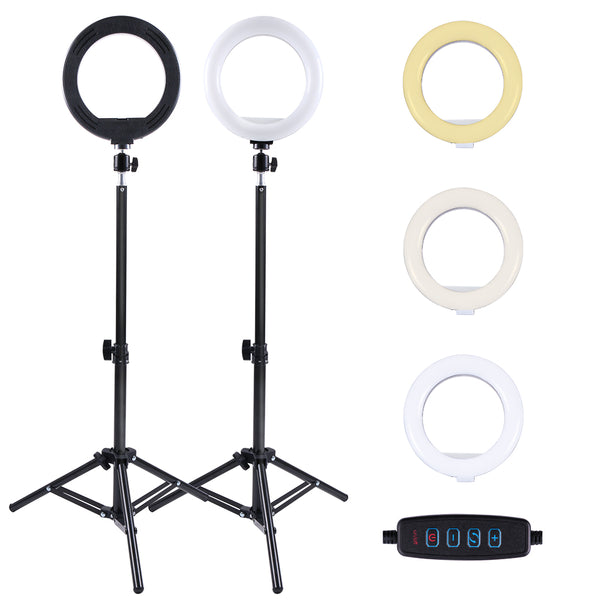 Selfie Ring Light with Tripod Stand and Phone Holder, 9Inch