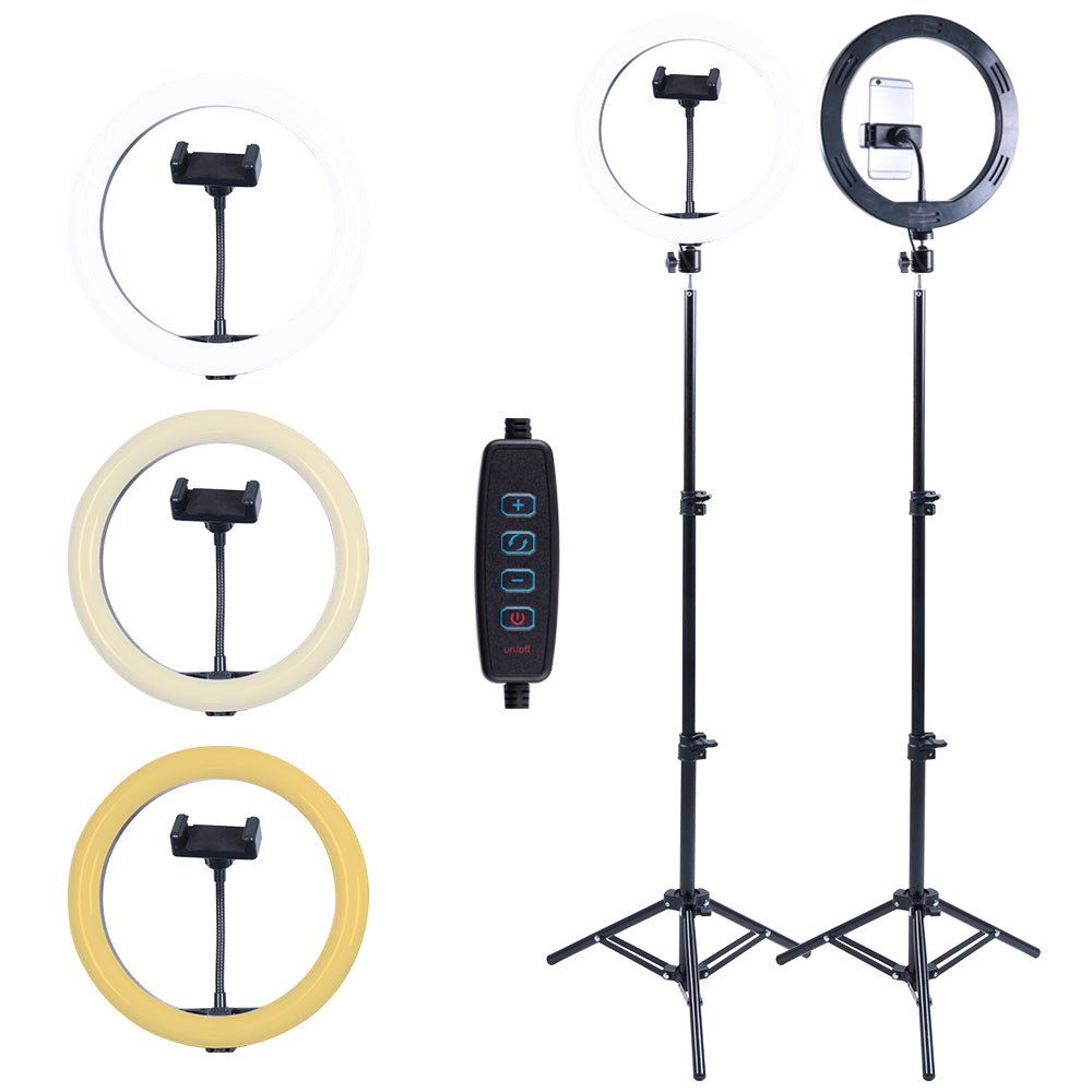 Selfie Ring Light with Tripod Stand and Phone Holder, 10Inch