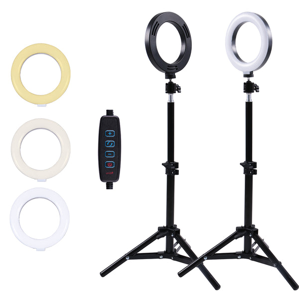 Selfie Ring Light with Tripod Stand and Phone Holder, 6Inch